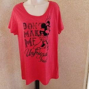 Disney parks women's tee shirt sz XXL